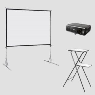 beamer-scherm-set